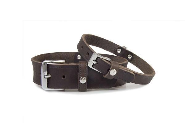 Leder-Hundehalsband Weinheim Mocca