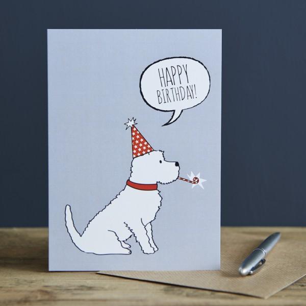 Sweet Williams Karte Geburtstag Westie