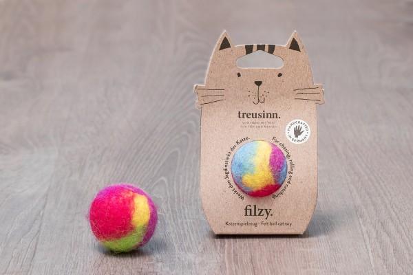 Treusinn Katzenspielzeug Filzy