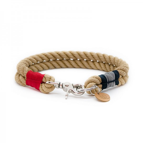 Q3N Halsband Sylter Strick Happy Sailor Natur