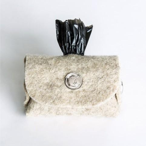 Cloud7 Kotbeutelspender Doggy-Do Bag, Filz silber
