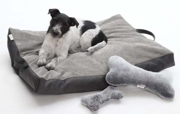 DOGS in the CITY Travel Bed Grau