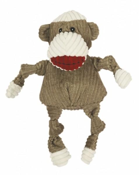 Hugglehounds Hundespielzeug Sock Knottie Affe Braun