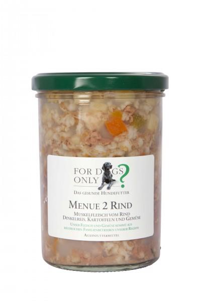 FORDOGSONLY? Feuchtfutter Menü 2 Rind