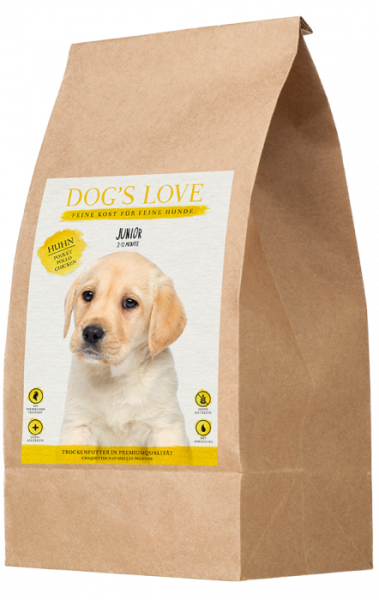 Dogs Love Trockenfutter Junior Huhn