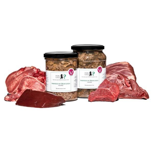 FORDOGSONLY? Feuchtfutter Innereien + Beinfleisch Rind Ergänzungsfutter