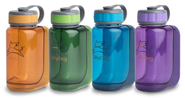 Wasserflasche mit Trinkschale Uni 600ml