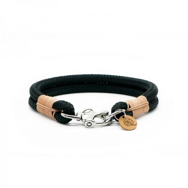 Q3N Halsband Sylter Strick Deluxe Schwarz