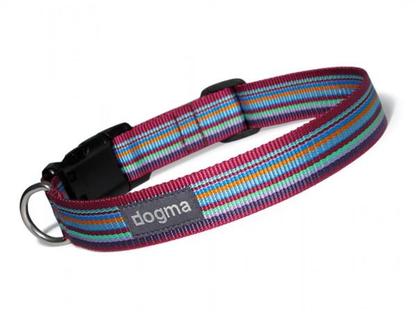 dogma Hundehalsband stripes lilabunt