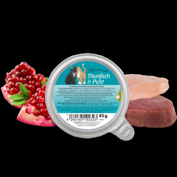 GranataPet Katze Nassfutter Thunfisch & Pute Filet 85g