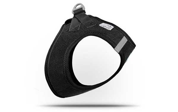 Curli Plush Vest Harness Cord Schwarz