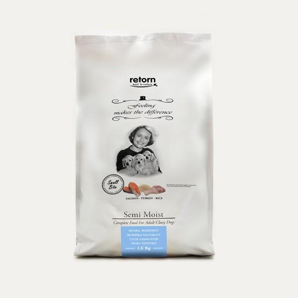 Retorn Halbfeuchtes Hundefutter Lachs-Truthahn-Reis