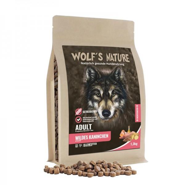 Wolf's Nature Trockenfutter Wildes Kaninchen