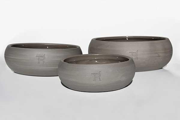 Treusinn Hundenapf Keramik Schiefer