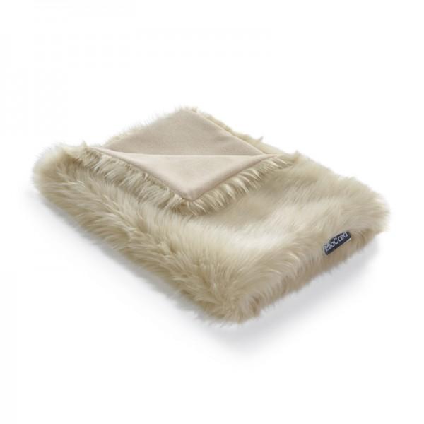 MiaCara Lana Decke 50x35 cm, Elfenbein/natur meliert