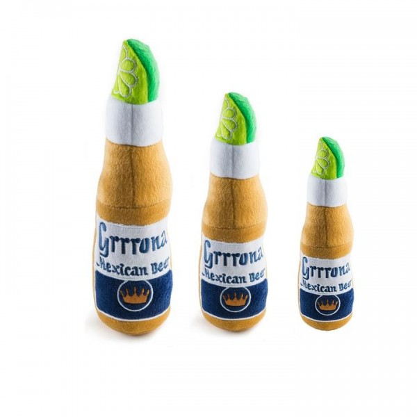 Hundespielzeug Plüschflasche Grrrona Bier