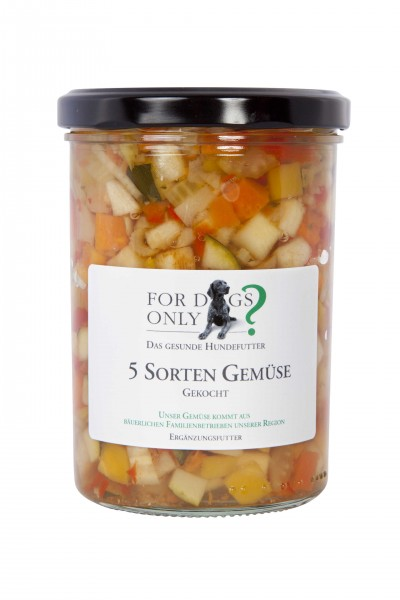 FORDOGSONLY? Feuchtfutter 5 Sorten Gemüse Ergänzungsfutter