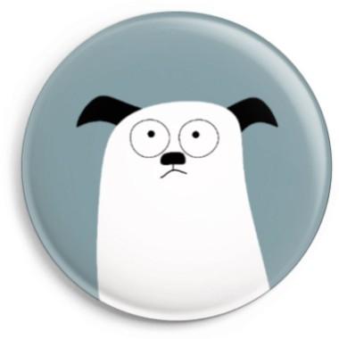 Magnet Hund - Weiß