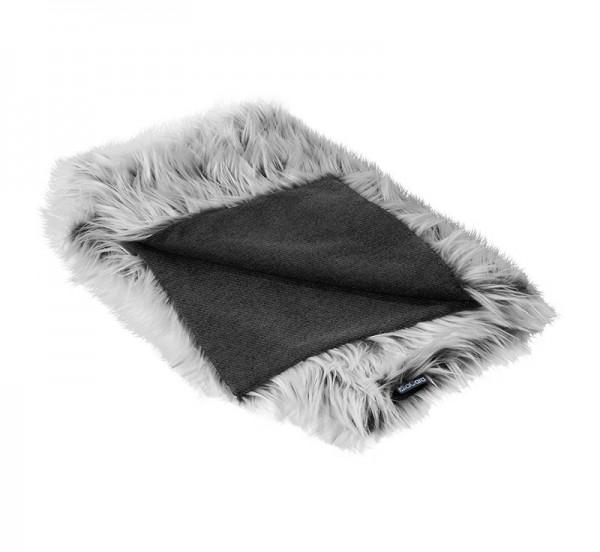 MiaCara Decke Capello grau-schwarze/schwarz meliert