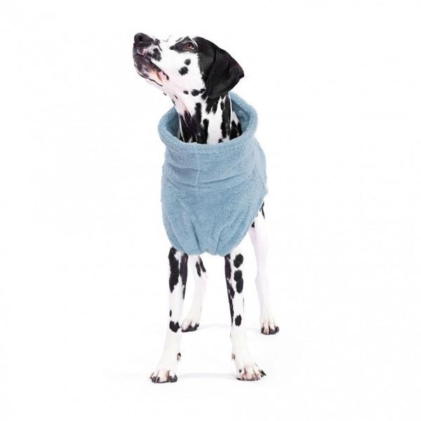 Hundebademantel Bio-Baumwolle, Ocean Blue