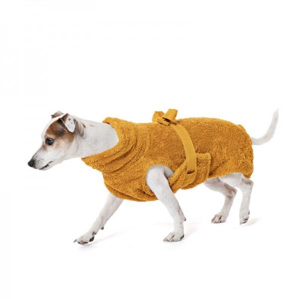 Hundebademantel Bio-Baumwolle, Amber