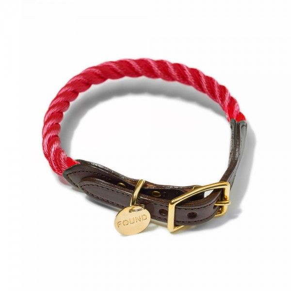 Found my animal Halsband Rope Red