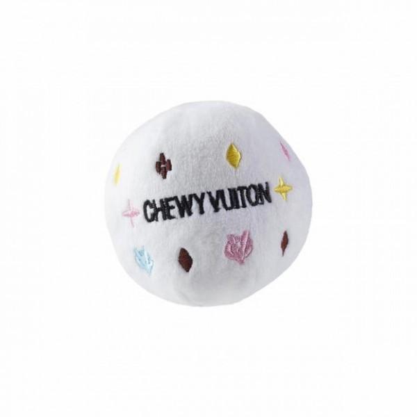 Hundespielzeug Plüschball Chewy Vuiton Weiß