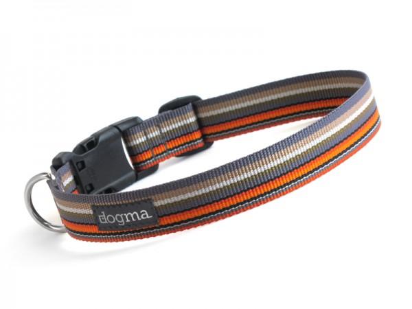 dogma Hundehalsband stripes graubunt