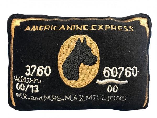 Hundespielzeug Plüsch Americanine Express Bark Card