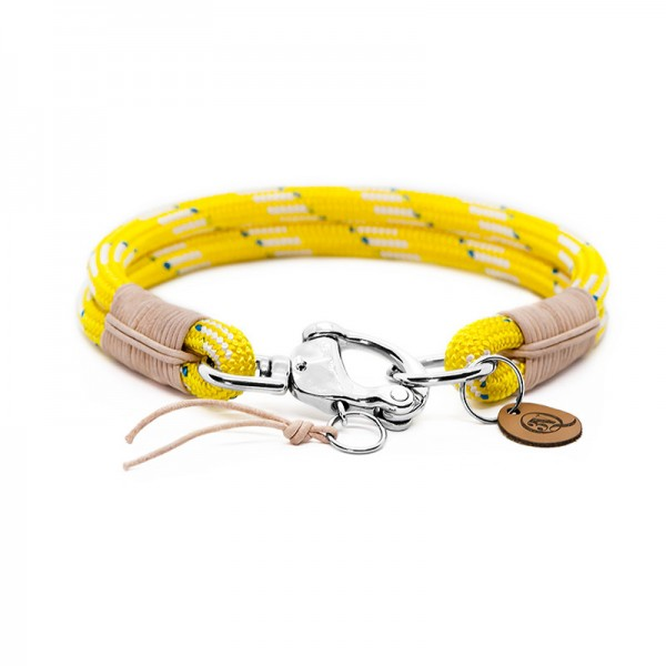 Q3N Halsband Sylter Strick Deluxe Gelb
