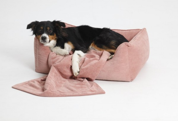 DOGS in the CITY Hundebett Chelsea Cord Rosa