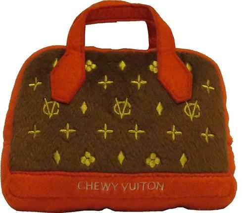 Hundespielzeug Plüsch Tasche Chewy Vuiton Posh (Red Trim)