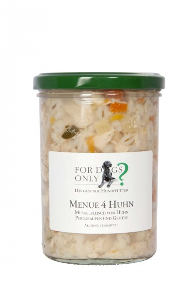 FORDOGSONLY? Feuchtfutter Menü 4 Huhn