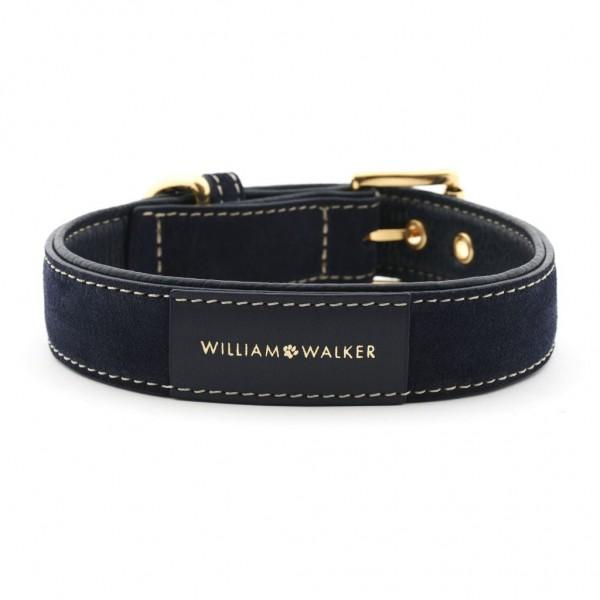 William Walker Hundehalsband Wildleder Midnight