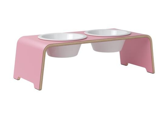 dogBar Hundefutterstation Flamingo M limited Edition