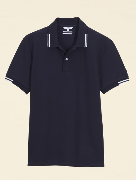 aigle Poloshirt Pleuro Marine