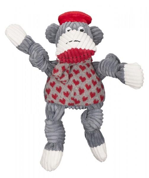 Hugglehounds Hundespielzeug Jean Claude Sock Monkey