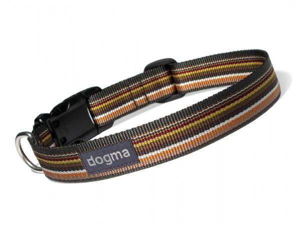 dogma Hundehalsband stripes grünbunt