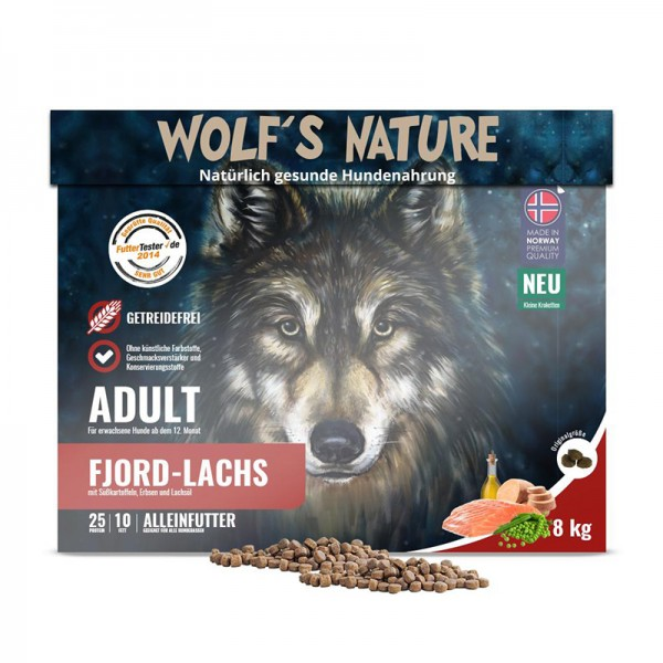 """Wolf's Nature Trockenfutter Fjord Lachs """"Minis"""""""