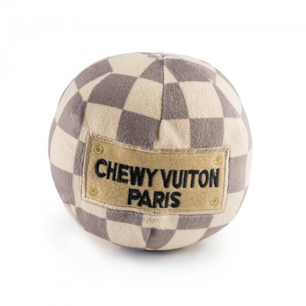Hundespielzeug Plüschball Chewy Vuiton Checker
