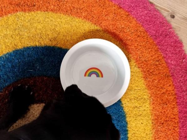 dogbar Porzellan-Ersatznapf mit Regenbogen
