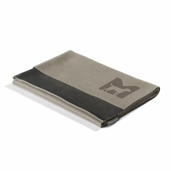 MiaCara Microfleece-Decke Coperta Sand/Espresso