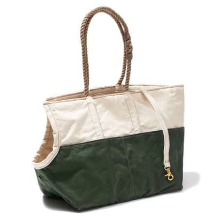 Found my animal Hundetasche Natural & Olive Waxed Cotton