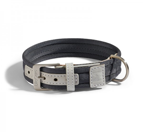 MiaCara Hundehalsband Riva Graphit-Perlgrau