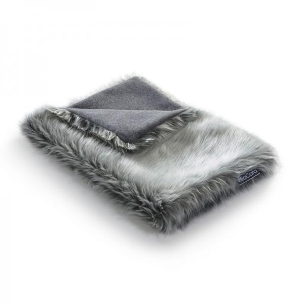 MiaCara Lana Decke 50x35 cm, Kiesel/grau meliert