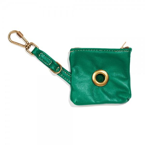 Found my animal Kotbeutelspender Vintage Leder, Emerald-Green