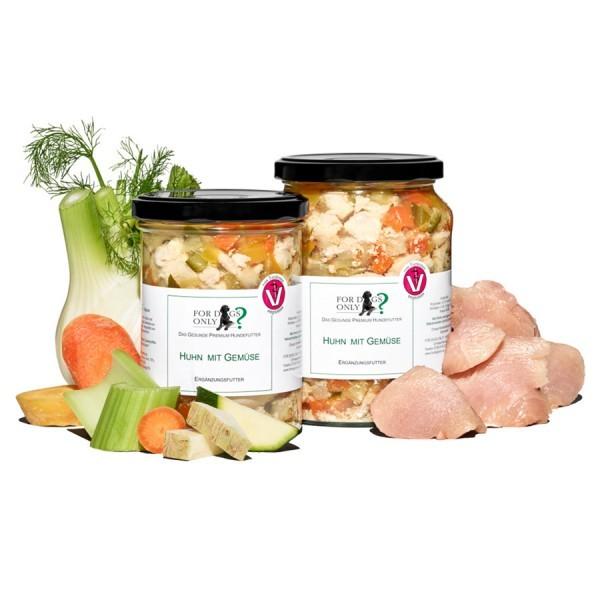 FORDOGSONLY? Feuchtfutter Huhn mit Gemüse Ergänzungsfutter