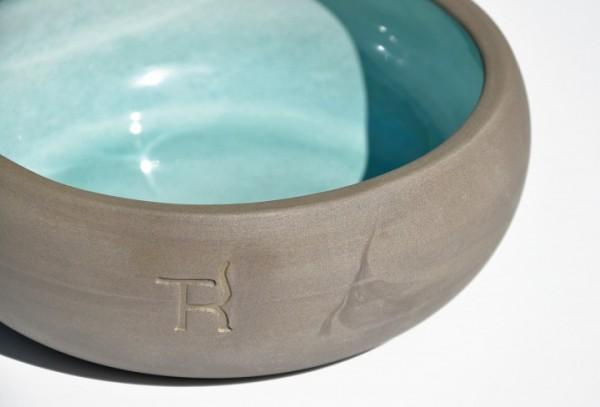 Treusinn Hundenapf Keramik Aqua