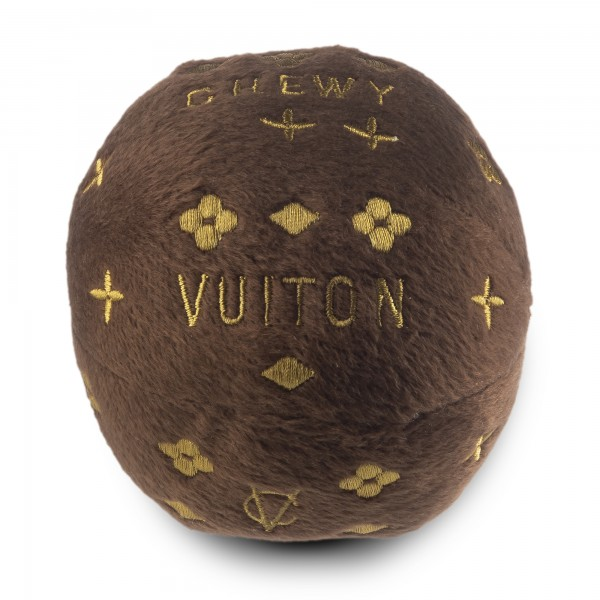 Hundespielzeug Plüschball Chewy Vuiton Braun