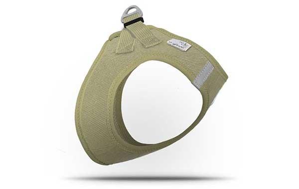 Curli Plush Vest Harness Cord Tan